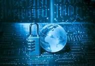 Cadenas pour symboliser la cryptographie et environnement informatique