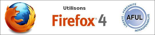 Bannière Utilisons Firefox 4