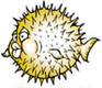 OpenBSD logo: yellow fish with pickles